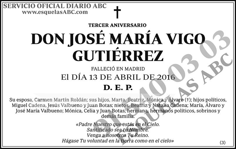 José María Vigo Gutiérrez