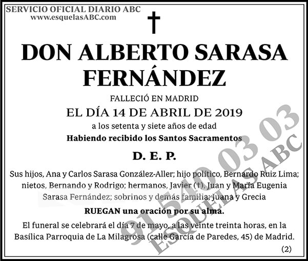 Alberto Sarasa Fernández
