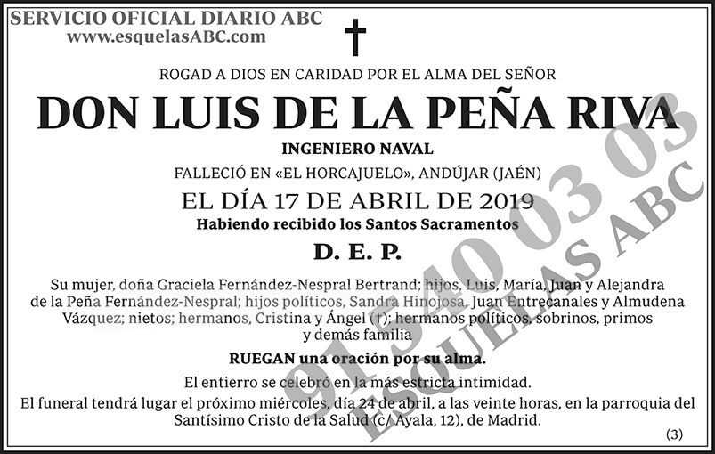 Luis de la Peña Riva