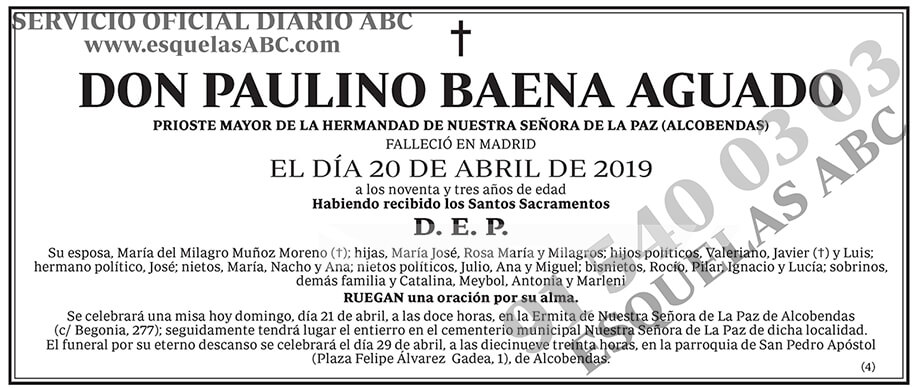 Paulino Baena Aguado