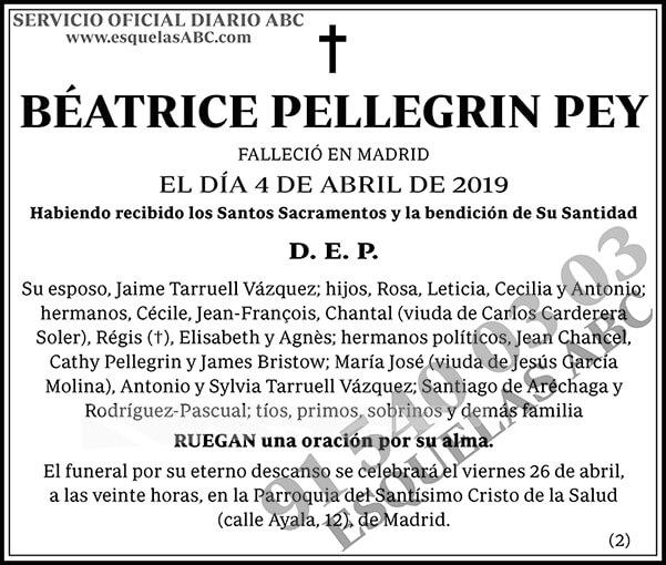 Béatrice Pellegrin Pey