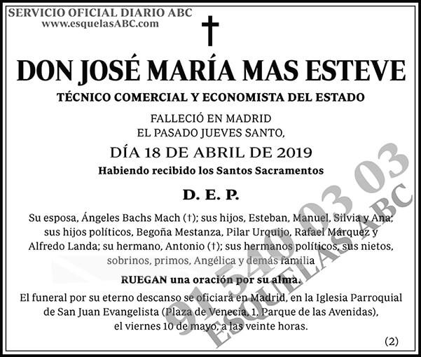 José María Mas Esteve