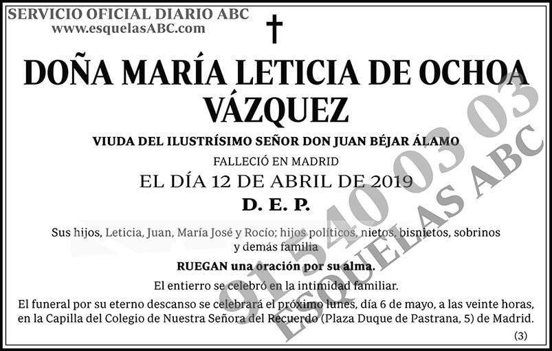 María Leticia de Ochoa Vázquez