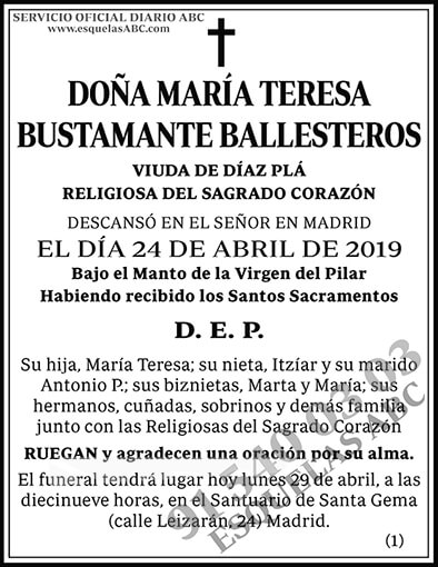 María Teresa Bustamante Ballesteros