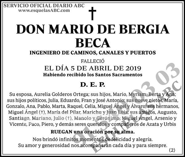 Mario de Bergia Beca