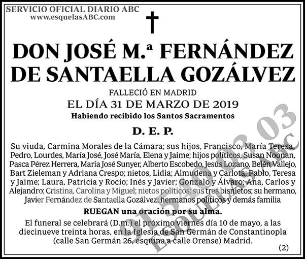 José M.ª Fernández de Santaella Gonzálvez
