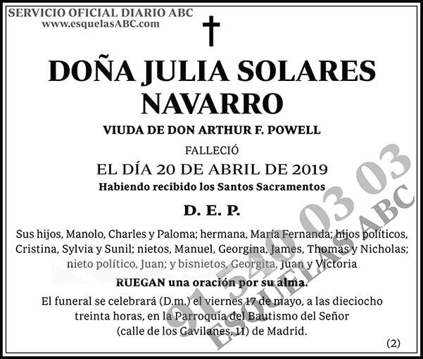 Julia Solares Navarro