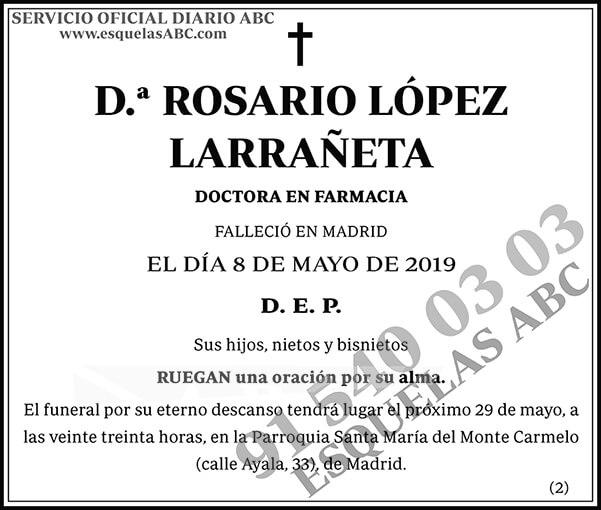 Rosario López Larrañeta