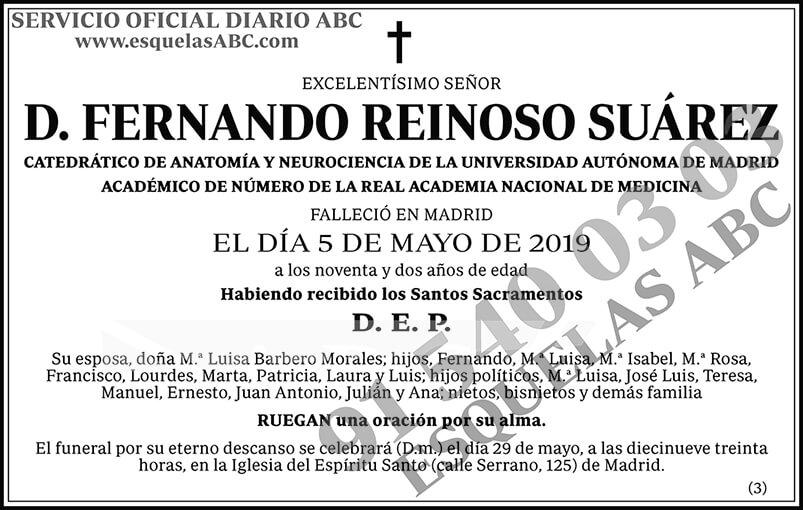 Fernando Reinoso Suárez