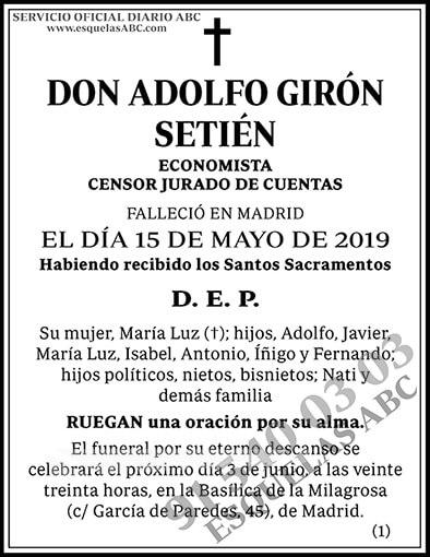 Adolfo Girón Setién