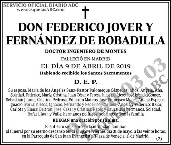 Federico Jover y Fernández de Bobadilla