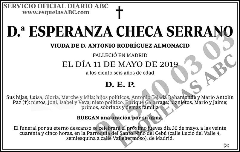 Esperanza Checa Serrano