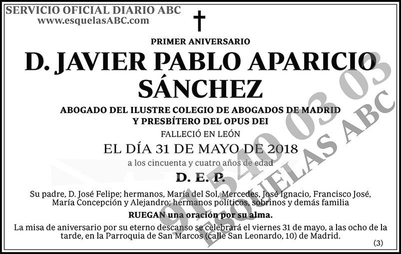 Javier Pablo Aparicio Sáchez