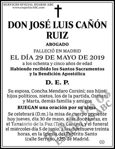 José Luis Cañón Ruiz