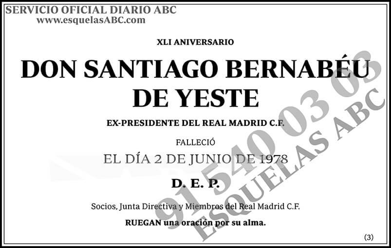 Santiago Bernabéu de Yeste