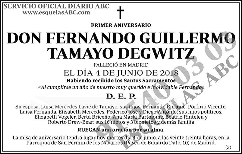 Fernando Guillermo Tamayo Degwitz