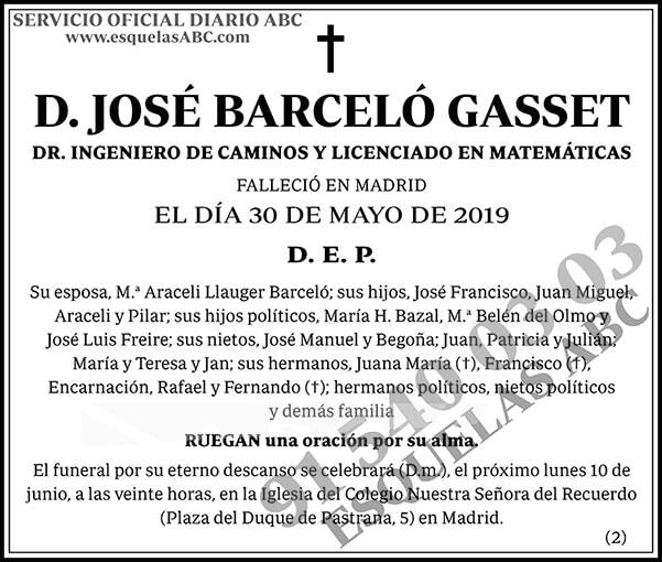 José Barceló Gasset