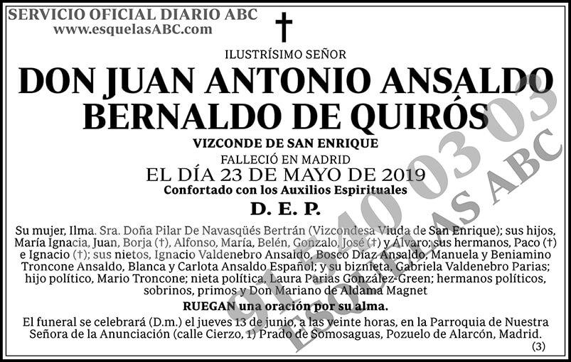 Juan Antonio Ansaldo Bernaldo de Quirós