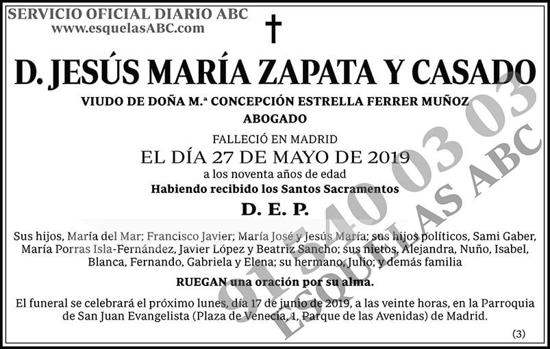 Jesús María Zapata y Casado