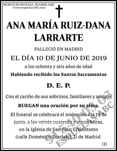 Ana María Ruiz-Dana Larrarte