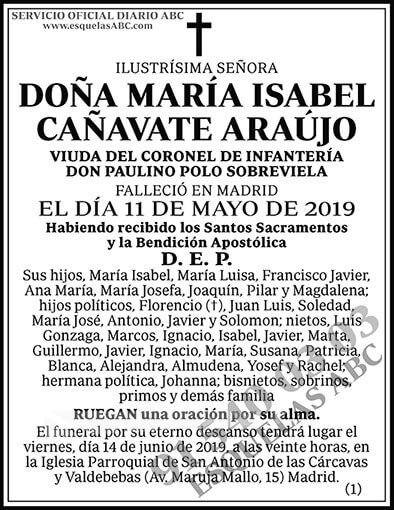 María Isabel Cañavate Araújo