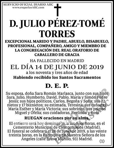 Julio Pérez-Tomé Torres