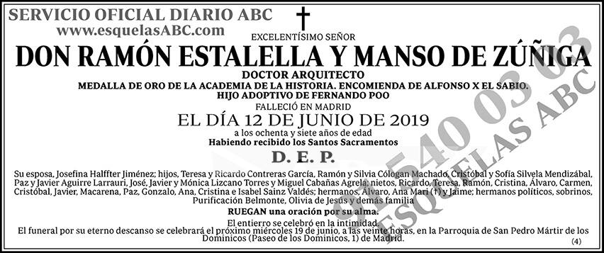 Ramón Estalella y Manso de Zúñiga