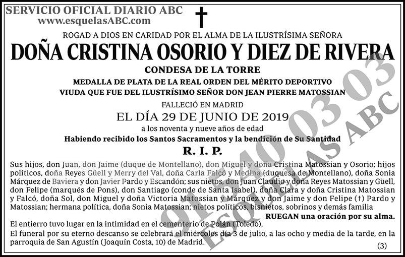 Cristina Osorio y Diez de Rivera