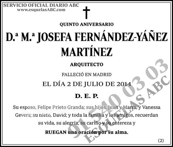 M.ª Josefa Fernández-Yáñez Martínez