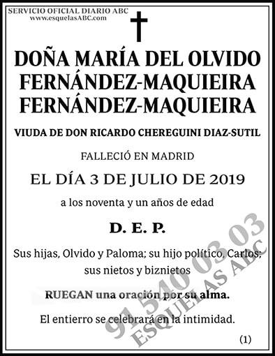 María del Olvido Fernández-Maquieira Fernández-Maquieira