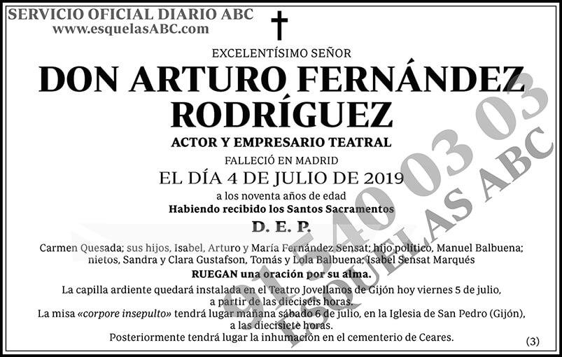 Arturo Fernández Rodríguez