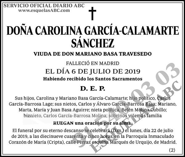 Carolina García-Calamarte Sánchez