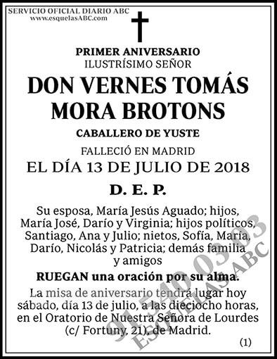 Vernes Tomás Mora Brotons