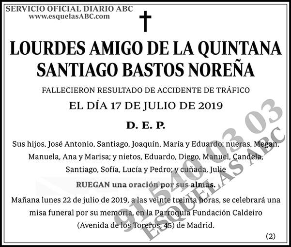 Lourdes Amigo de la Quintana Santiago Bastos Noreña