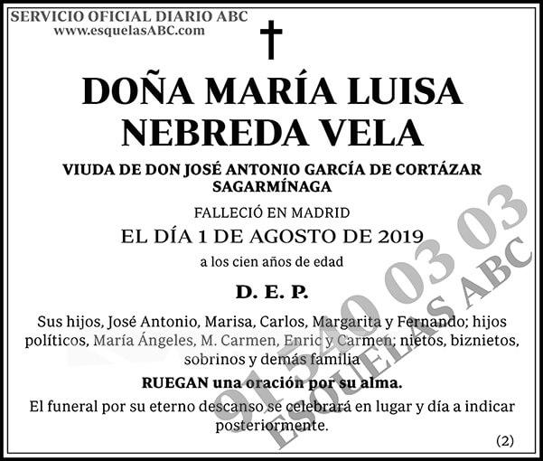 María Luisa Nebreda Vela