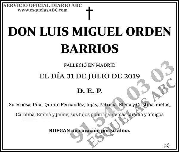 Luis Miguel Orden Barrios