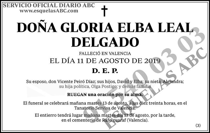 Gloria Elba Leal Delgado