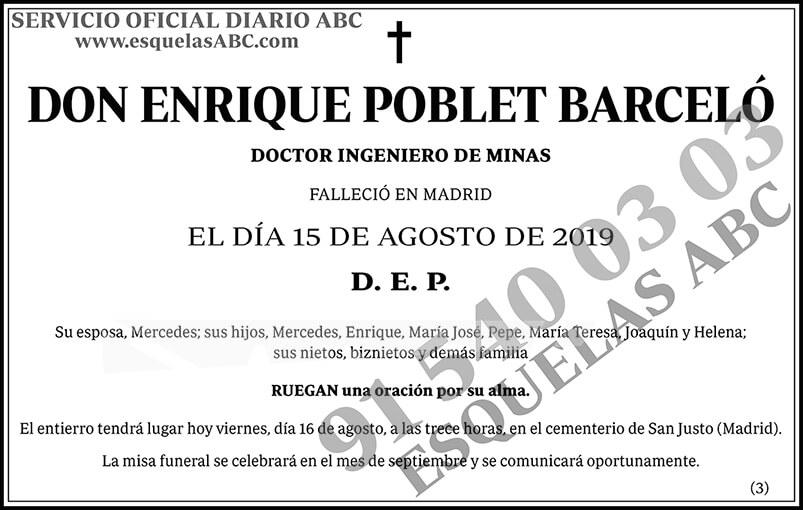 Enrique Poblet Barceló