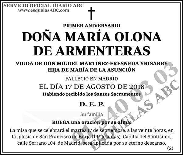 María Olona de Armenteras