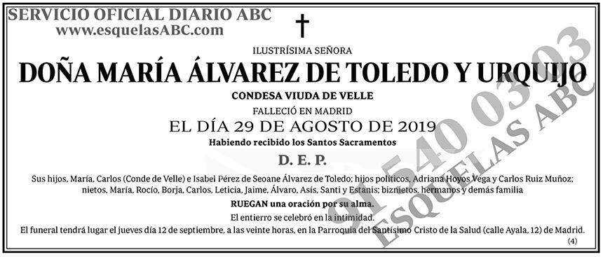 María Álvarez de Toledo y Urquijo
