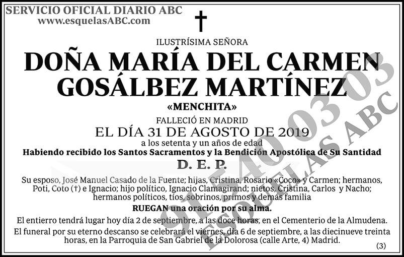 María del Carmen Gosálbez Martínez