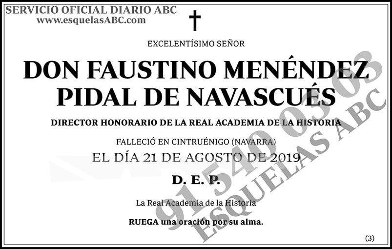 Faustino Menéndez Pidal de Navascués