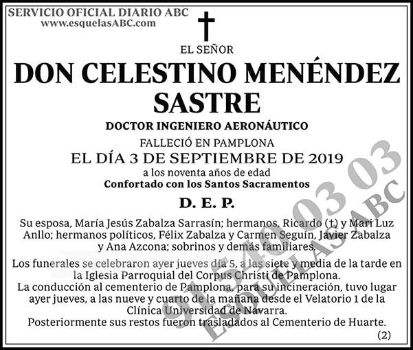 Celestino Menéndez Sastre
