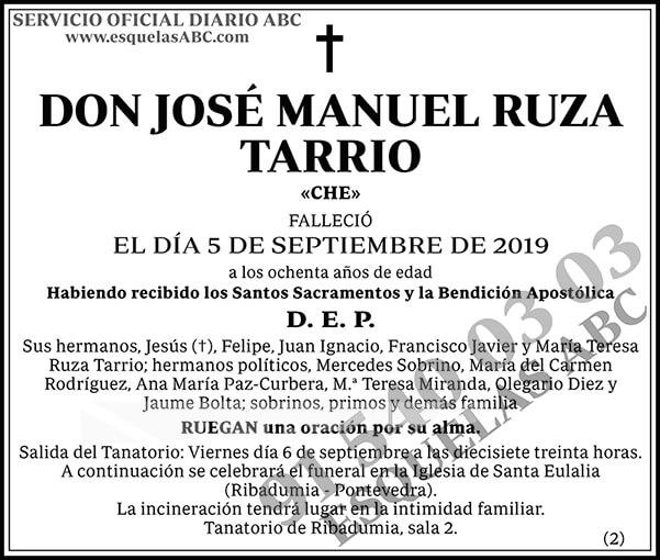 José Manuel Ruza Tarrio