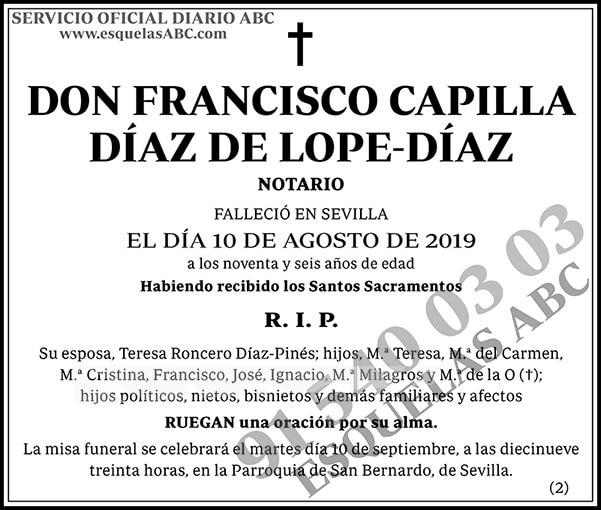 Francisco Capilla Díaz de Lope-Díaz