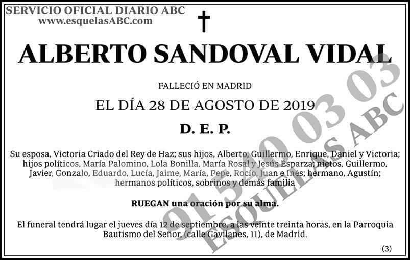 Alberto Sandoval Vidal
