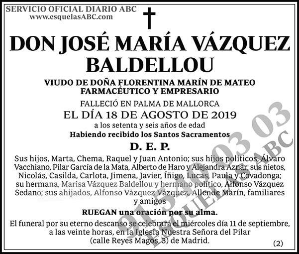José María Vázquez Baldellou