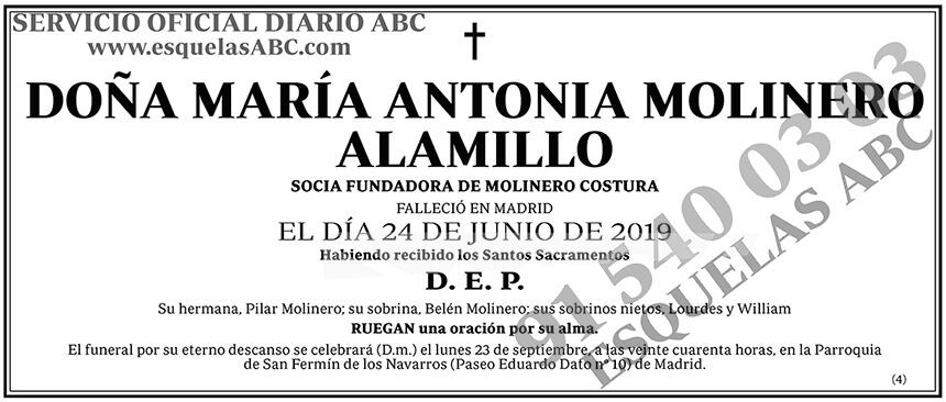 María Antonia Molinero Alamillo