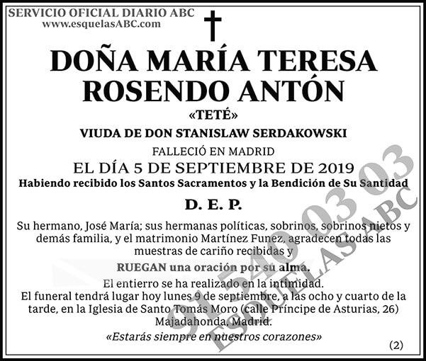María Teresa Rosendo Antón
