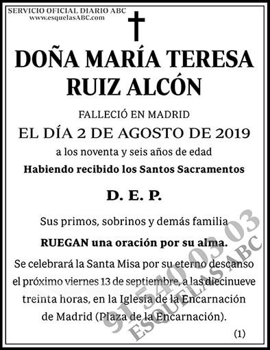 María Teresa Ruiz Alcón